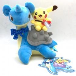 Pikachu Riding Lapras Plushie (25cm)