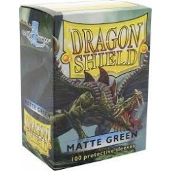 Dragon Shield Matte Green Deck Protector Sleeves (100) [STANDARD]