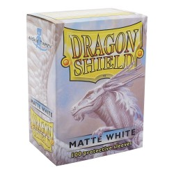 Dragon Shield Matte White Deck Protector Sleeves (100) [STANDARD]