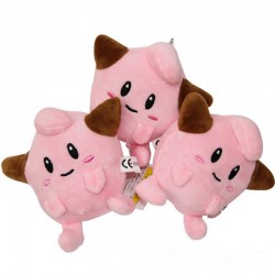 Pocket Monster Cleffa Plushie Keychain (Extra, Extra Small)