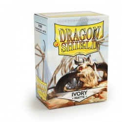 Dragon Shield Matte Ivory Deck Protector Sleeves (100) [STANDARD]