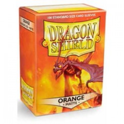 Dragon Shield Matte Orange Deck Protector Sleeves (100) [STANDARD]