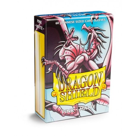 Dragon Shield Matte Pink Deck Protector Sleeves (60) [SMALL]