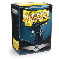 Dragon Shield Matte Jet Deck Protector Sleeves (100) [STANDARD]