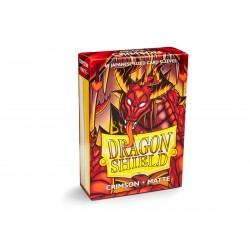 Dragon Shield Matte Crimson Deck Protector Sleeves (60) [SMALL]