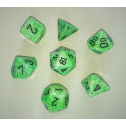 Speckled Green/Black Polyhedral 7-Die Set