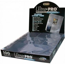 Ultra Pro 9 Pocket Pages (100) - Platinum