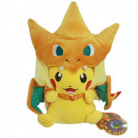 Pokédoll Pikachu Plushie Mega Charizard Y Cosplay 23cm A I Fest