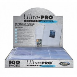 Ultra Pro 9 Pocket Pages (100) - Silver