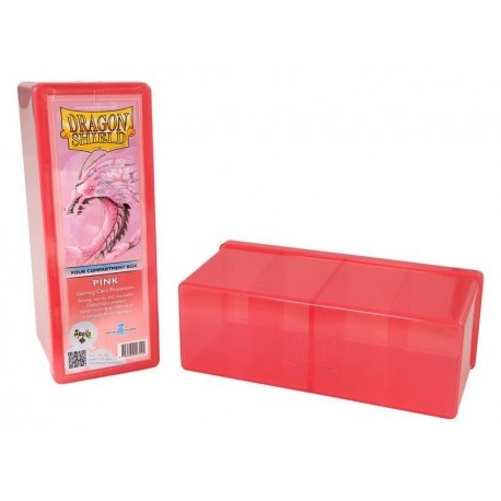 Dragon Shield Four Compartment Box - Pink