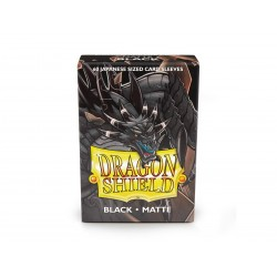 Dragon Shield Matte Black Deck Protector Sleeves (60) [SMALL]