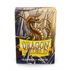 Dragon Shield Matte Copper Deck Protector Sleeves (60) [SMALL]