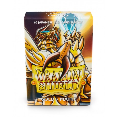 Dragon Shield Matte Gold Deck Protector Sleeves (60) [SMALL]
