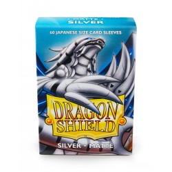 Dragon Shield Matte Silver Deck Protector Sleeves (60) [SMALL]