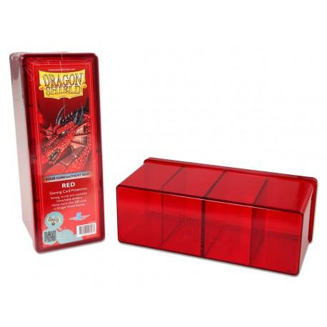 Dragon Shield Four Compartment Box - Red
