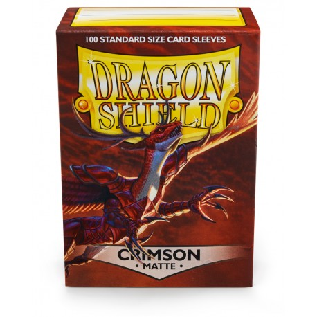 Dragon Shield Matte Crimson Sleeves (100) [STANDARD]
