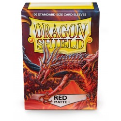 Dragon Shield Matte Red Deck Protector Sleeves (100) [STANDARD]