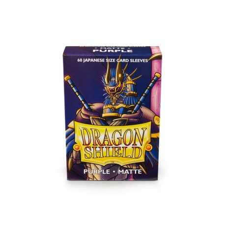 Dragon Shield Matte Purple Deck Protector Sleeves (60) [SMALL]
