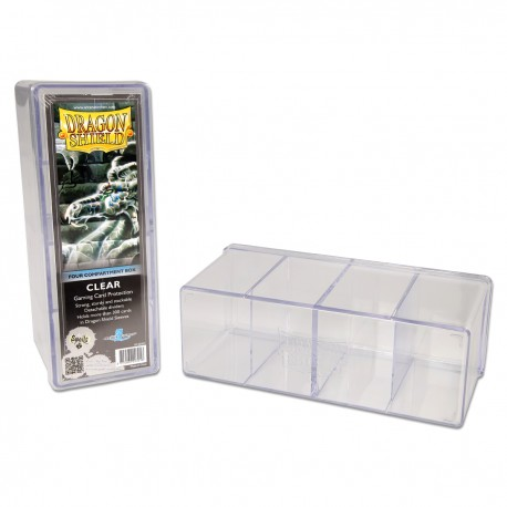 Dragon Shield Four Compartment Box - Clear