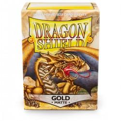 Dragon Shield Matte Gold Sleeves (100) [STANDARD]