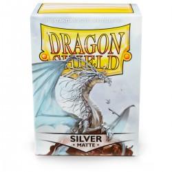 Dragon Shield Matte Silver Sleeves (100) [STANDARD]