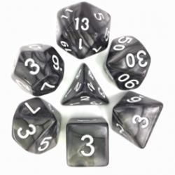 Black/White Pearl Polyhedral 7-Die Set