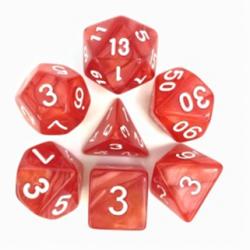 Red/White Pearl Polyhedral 7-Die Set