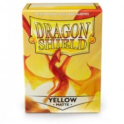 Dragon Shield Matte Yellow Sleeves (100) [STANDARD]
