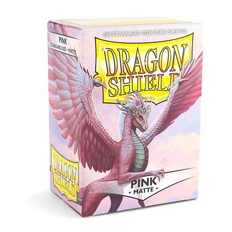 Dragon Shield Matte Pink Deck Protector Sleeves (100) [STANDARD]