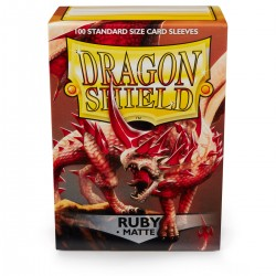 Dragon Shield Matte Ruby Sleeves (100) [STANDARD]