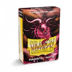 Dragon Shield Matte Magenta Deck Protector Sleeves (60) [SMALL]