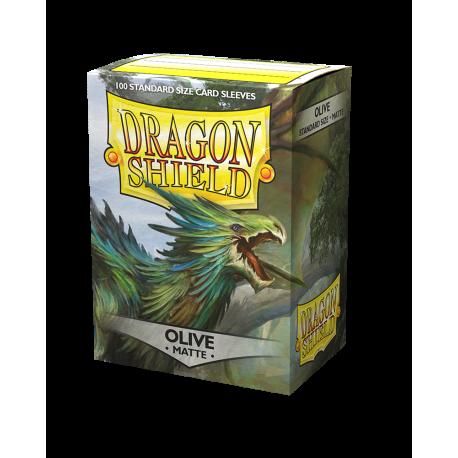 Dragon Shield Matte Olive Sleeves (100) [STANDARD]
