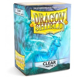 Dragon Shield Matte Clear Deck Protector Sleeves (100) [STANDARD]
