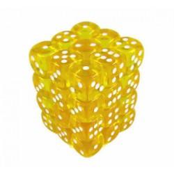 Chessex Yellow/White 12mm D6 Dice Block - Translucent