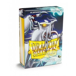 Dragon Shield Matte White Deck Protector Sleeves (60) [SMALL]