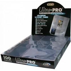 Ultra Pro 9 Pocket Pages (100) - Platinum