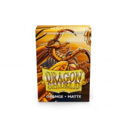 Dragon Shield Matte Orange Deck Protector Sleeves (60) [SMALL]