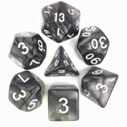 Black/White Pearl Polyhedral 7-Die Set