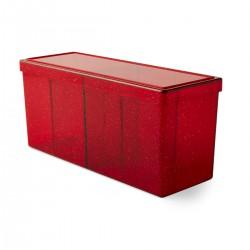 Dragon Shield Four Compartment Box - Ruby
